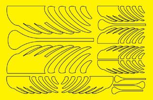 "1/32 & 1/24 Wind Design Paint Mask - 5.5"" x 8.5"" picture"
