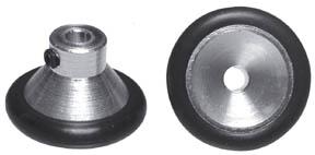 """Aluminum Fronts - 1/8"""" Axle x 3/4"""" Dia - 6 Pair picture"""