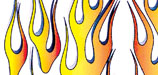 "Long Flames, 6"" x 8"" Decal picture"
