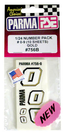 1/24 Number Pack - Gold - 10 Number Sheets picture