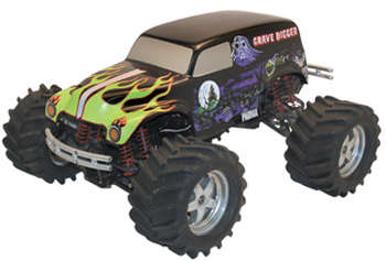 1/10 Grave Digger - Clear Body w/Decals picture