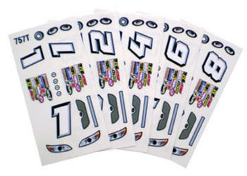 1/24 Stock Car Decals - Type T - 6 Sheets picture