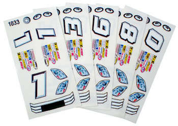 1/24 Stock Car Decals - Type F - 6 Sheets picture