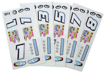1/24 Stock Car Decals - Type C - 6 Sheets picture