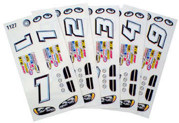 1/24 Stock Car Decals - Type D - 1 Pc picture