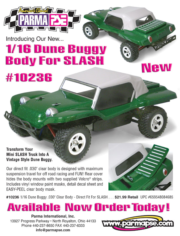 PARMA/PSE - 1/16 Dune Buggy For SLASH - Clear Body
