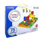 Marble Fun Run- Building Block Edition- 75 pc