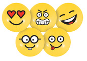 "PVC 4"" Emoji Ball Set - 5 Balls Total"