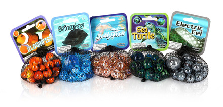 Sea Life - Marble Set - 5 Total picture