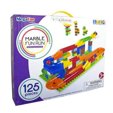 Marble Fun Run- Building Block Edition- 125pc picture