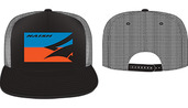 Flatbill Mesh Back Trucker - Black/Blue/Orange