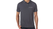 Embroidered Polo Shirt-Grey-XL