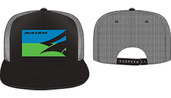 Flatbill Mesh Back Trucker - Black/Blue/Green