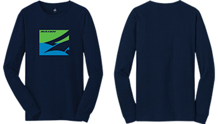 Large Box Longsleeve - Navy - L picture