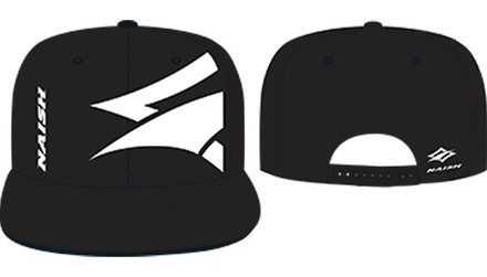 Flatbill Canvas Embroidery Hat - Black/White picture