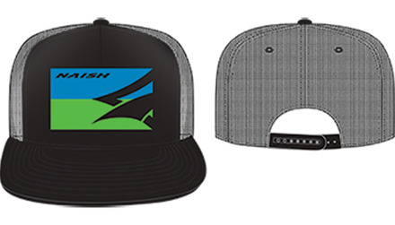 Flatbill Mesh Back Trucker - Black/Blue/Green picture