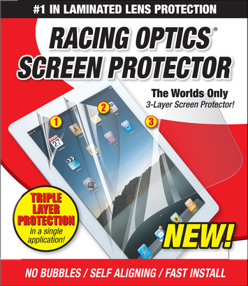 Racing Optics 3 Layer Screen Protector for iPad 2/3/4 with Hardcoat picture