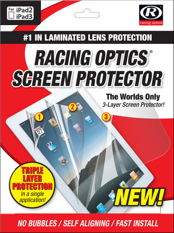 Racing Optics 3 Layer Screen Protector for iPad 2/3/4 with Anti-Glare picture
