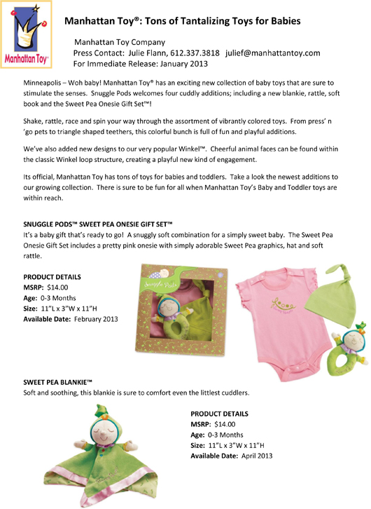 Manhattan Toy®: Tons of Tantalizing Toys for Babies pg 1