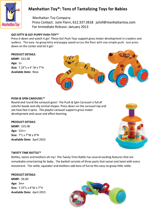 Manhattan Toy®: Tons of Tantalizing Toys for Babies pg 2
