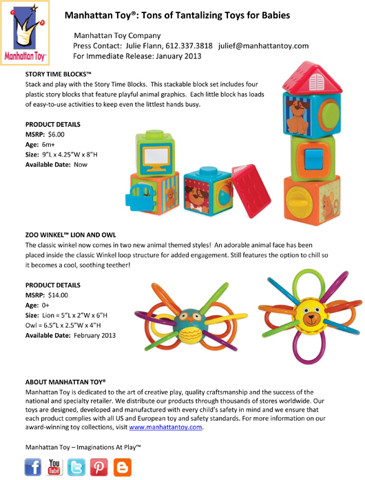 Manhattan Toy®: Tons of Tantalizing Toys for Babies pg 3