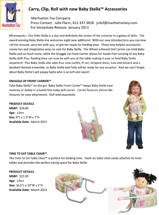 Carry, Clip, Roll with new Baby Stella™ Accessories pg 1