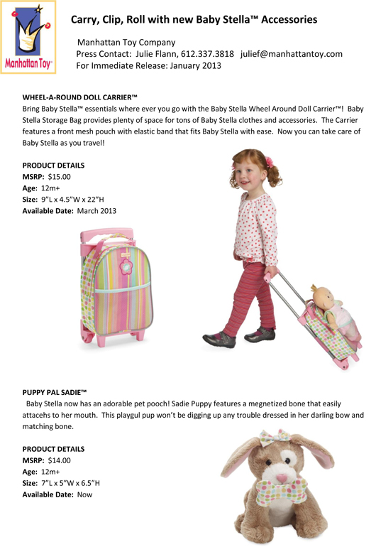 Carry, Clip, Roll with new Baby Stella™ Accessories pg 2