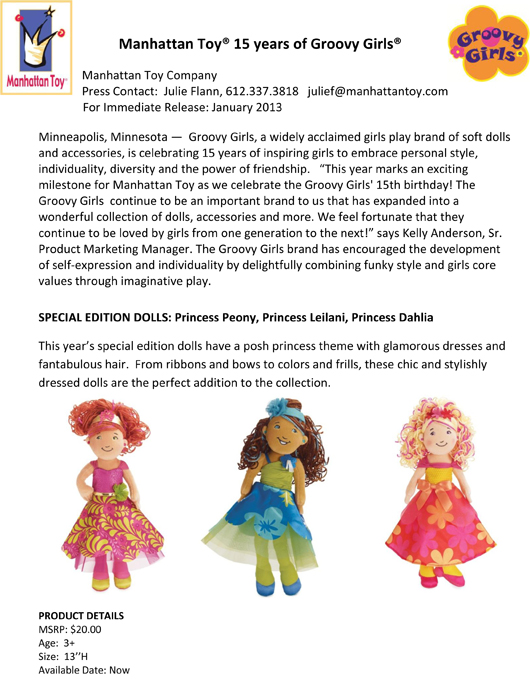 Manhattan Toy® 15 years of Groovy Girls® pg 1