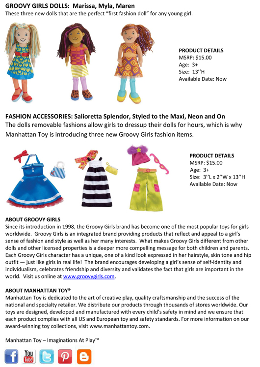 Manhattan Toy® Imaginative Soft Toys and Puppet Collections have Expanded! pg 2