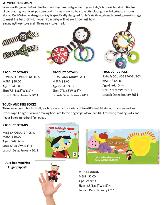 Babies Deserve the Best: Manhattan Toy® Reveals Over 30 New Toys for Infants and Babies pg 2