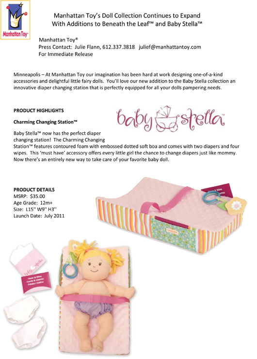 Manhattan Toy's Doll Collection Continues to Expand With Additions to Beneath the Leaf™ and Baby Stella™ pg 1