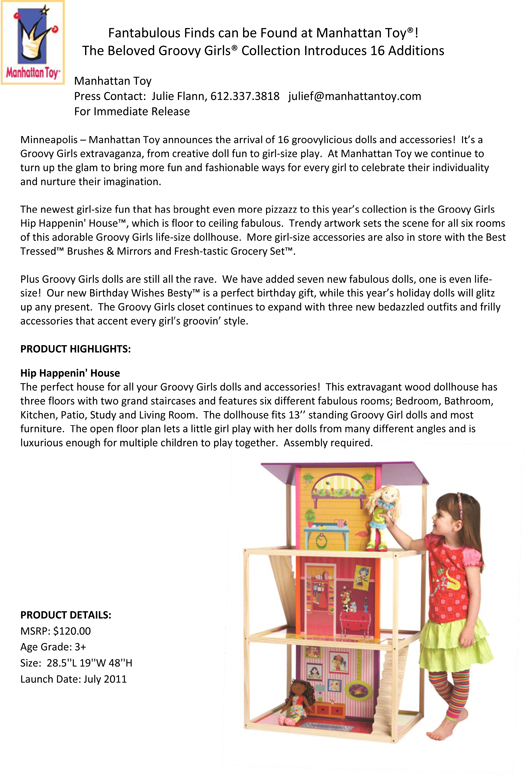 Fantabulous Finds can be Found at Manhattan Toy®!  pg 1