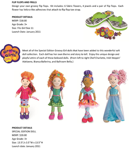 Groovy Girls® has Never Looked this Good! Manhattan Toy® Expands the Groovy Girls Collection pg 4