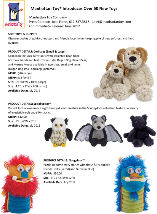 Manhattan Toy® Introduces Over 50 New Toys pg 6