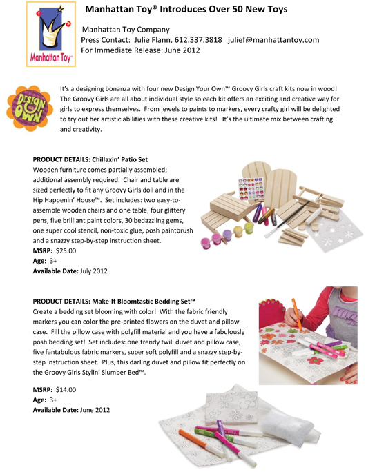 Manhattan Toy® Introduces Over 50 New Toys pg 7