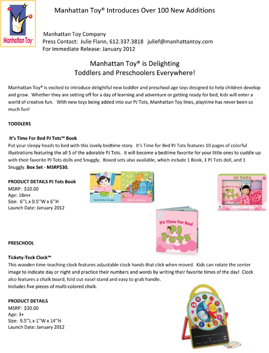 Manhattan Toy® Introduces Over 100 New Additions pg 10