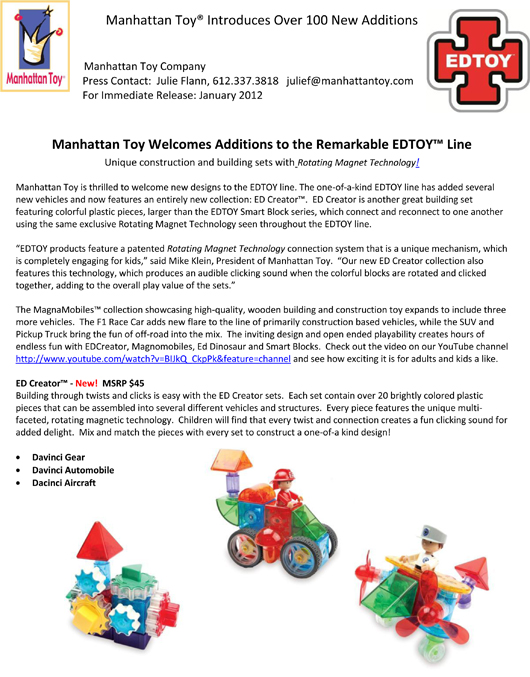 Manhattan Toy® Introduces Over 100 New Additions pg 11