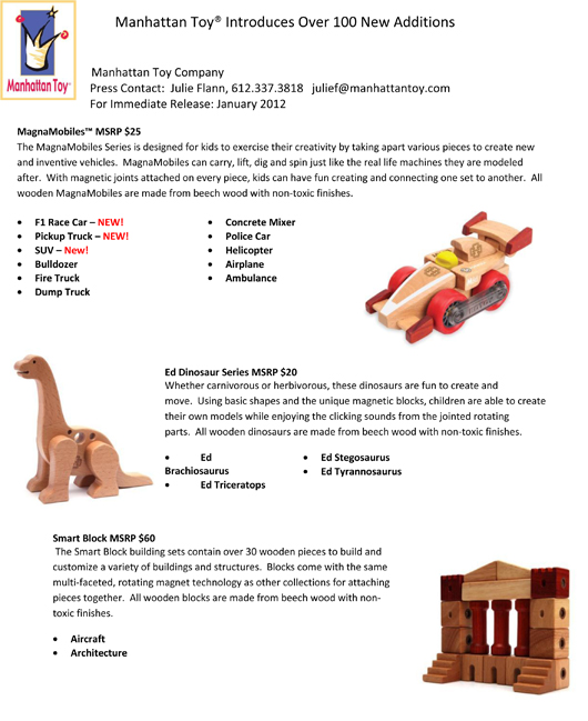 Manhattan Toy® Introduces Over 100 New Additions pg 12