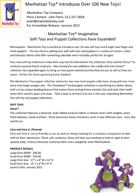 Manhattan Toy® Introduces Over 100 New Additions pg 13