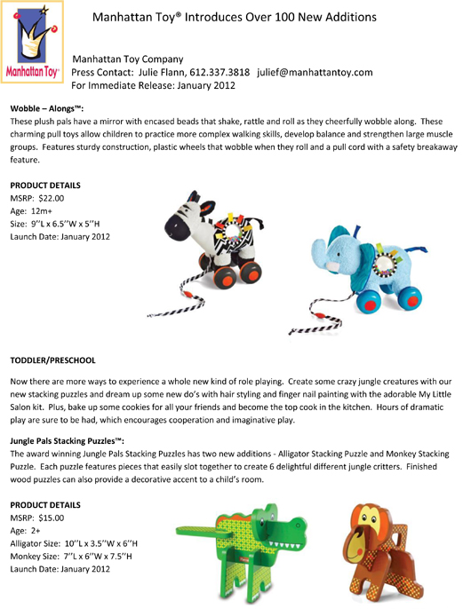 Manhattan Toy® Introduces Over 100 New Additions pg 6