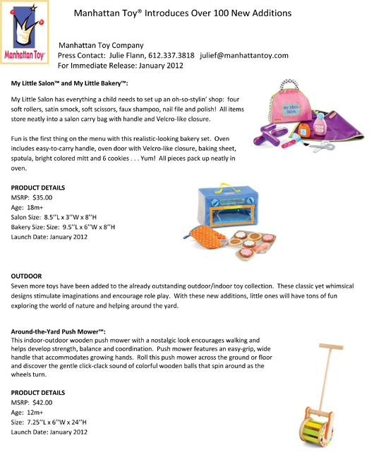 Manhattan Toy® Introduces Over 100 New Additions pg 7
