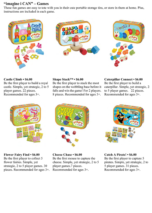 """MANHATTAN TOY'S NEW """"imagine i CAN™"""" COLLECTION IS MORE FUN THAN YOU CAN IMAGINE! pg 3"""