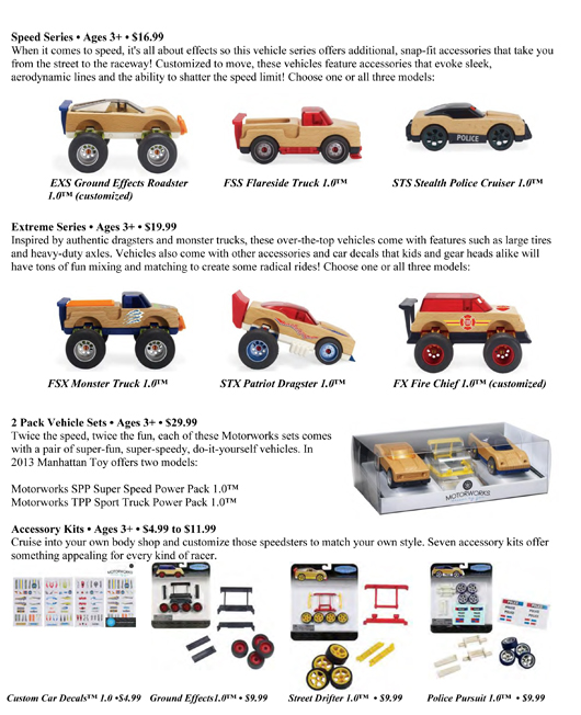 YOUNG CAR ENTHUSIASTS OFFERED THE WORKS WITH NEW MANHATTAN TOY LINE OF FINE-TUNED FUN pg 2