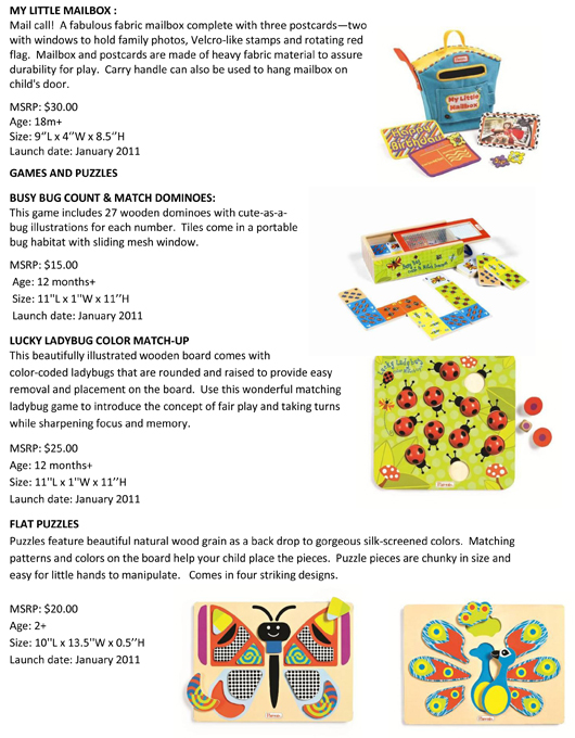 Manhattan Toy® Welcomes Twenty New Educational and Playful Parents® Toys to 2011 pg 2