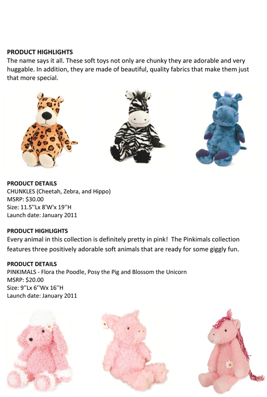 Extraordinary Children Deserve Extraordinary Toys: Manhattan Toy® Unveils this Year's New Soft Toys and Puppet Designs pg 2