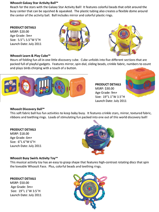Manhattan Toy® Introduces Eight New Whoozit® Toys pg 2