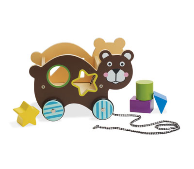 Roll-Along-Bear Shape Sorter