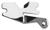 HEADER Bracket; 1955-77 Chevy 283-350; Long Axial Style A/C Compressor-CHROME