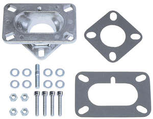 """1-5/8"""" Tall, 2BBL Carb to 1BBL Manifold Carburetor Adapter -Cast Aluminum picture"""