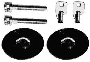 Hood Lock Set with Key; UNIVERSAL FIT-CHROME picture